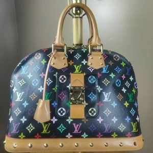 LOUIS VUITTON ALMA GM Multicolor black bag